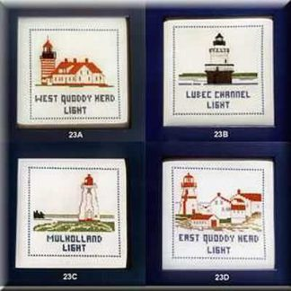 Counted Cross-Stitch Kits of the Local Lighthouses
