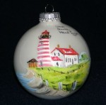 West Quoddy Handpainted Christmas Ornament