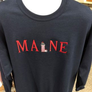 West Quoddy Design Embroidered Maine Sweatshirt