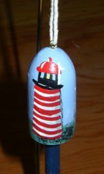 West Quoddy Buoy Christmas Ornament
