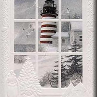West Quoddy Embossed Christmas Card