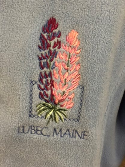 Ladies Lubec Maine Lupine Micro-Fleece Jacket Close Up
