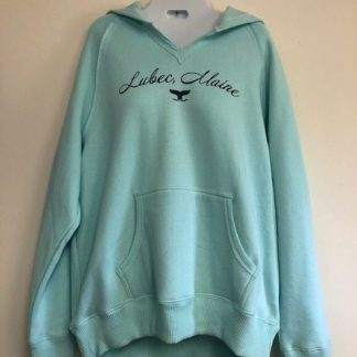 Lubec Maine Whale Tail Cut V Hoodie