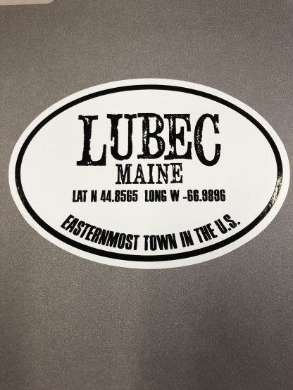 New Lubec, Maine, Easternmost Town in the US Euro Sticker