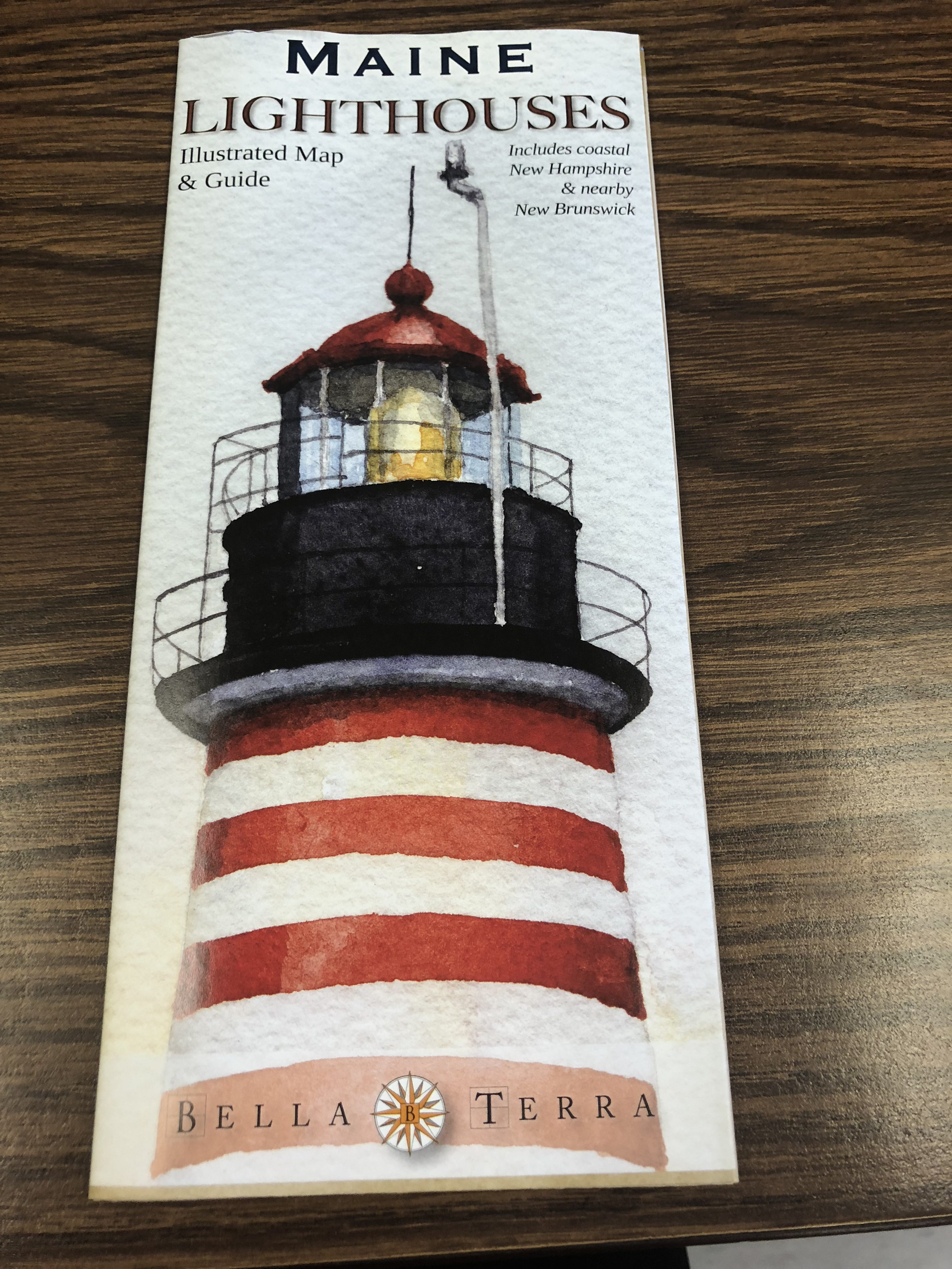 Maine Lighthouse Map Guide West Quoddy Gifts