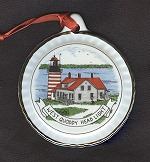 West Quoddy Porcelain Christmas Ornament