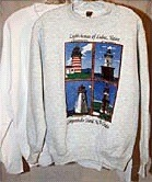 Lighthouses of Lubec, Maine and Campobello Island, N.B., Canada T-Shirts and Sweatshirts